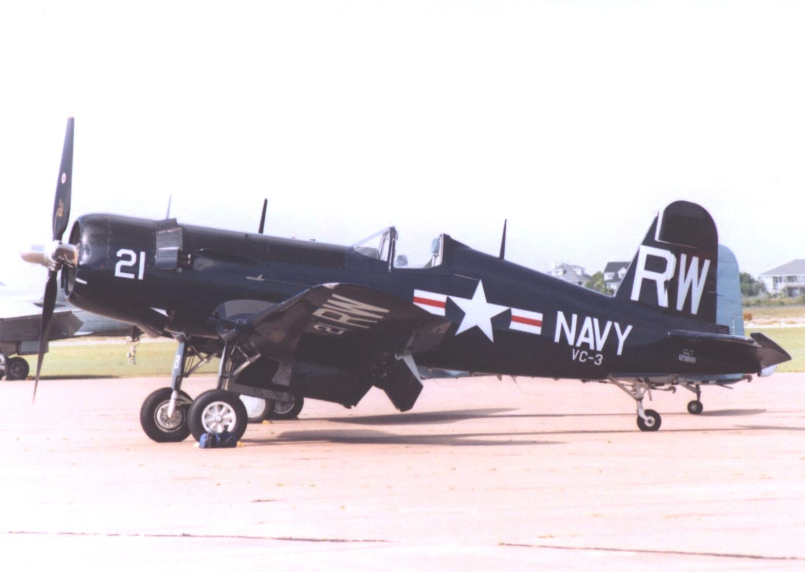 Retirement income: Navy F4U Corsair