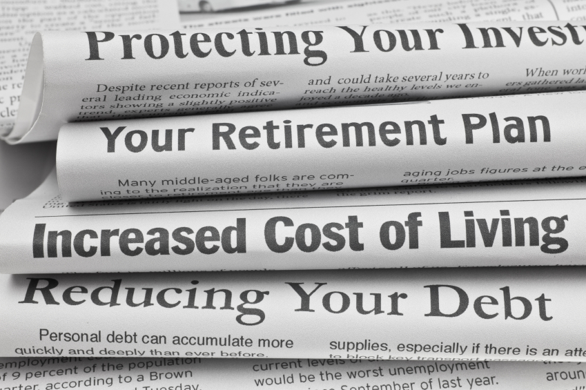 Newspapers with retirement headlines