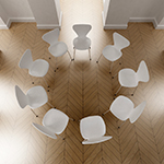 White chairs in a circle