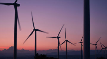 Reputation management; wind turbines at sunset