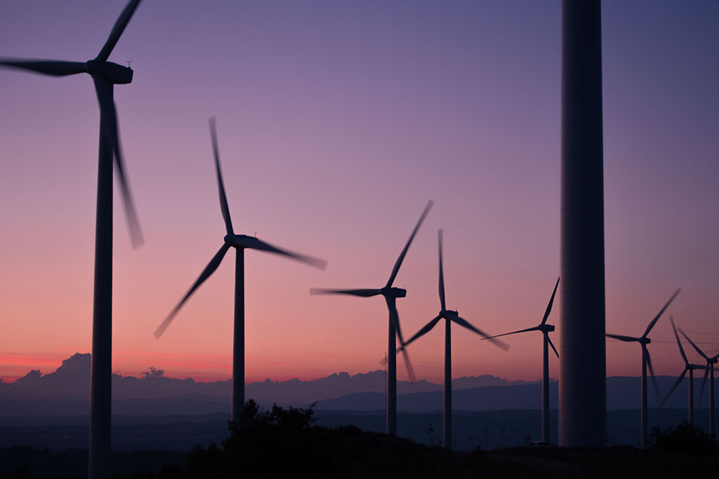 Reputation management; wind turbines at sunset
