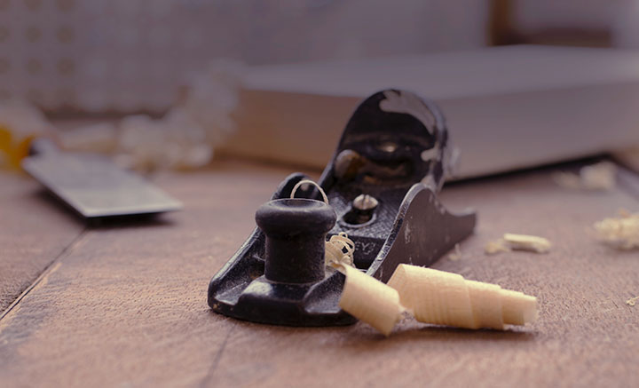 Communications strategy development: A wood sharpening tool after use