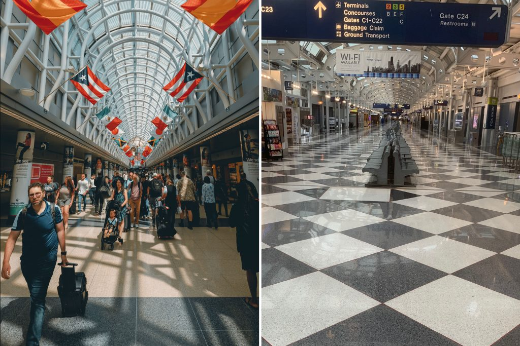 O'Hare before COVID-19 and during the pandemic